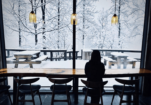 Cafe inside Nami Island