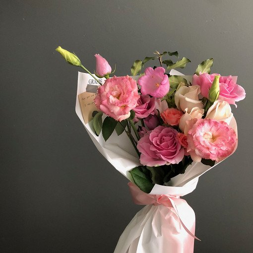 indiway flower delivery to korea small size bouquet