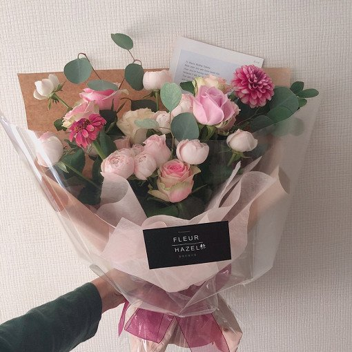 indiway flower delivery to korea medium size flower  bouquet