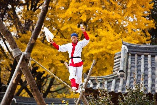 Korean folk village performances