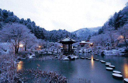Garden of Morning Calm Love in the Moonlight Filming Location in Winter