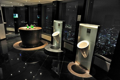 Namsan seoul tower sky bathroom