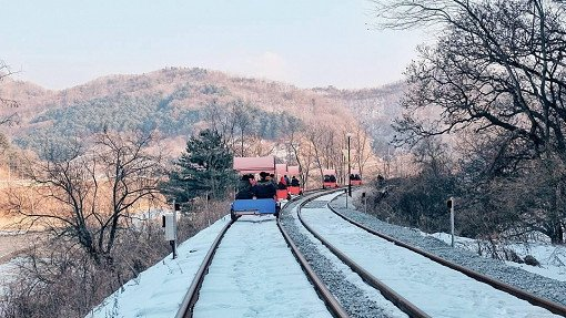 Gangchon Railbike Winter
