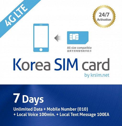 Korea SIM Card: Unlimited LTE data + Voice Call + SMS (5/7/10/15/30 days)_2