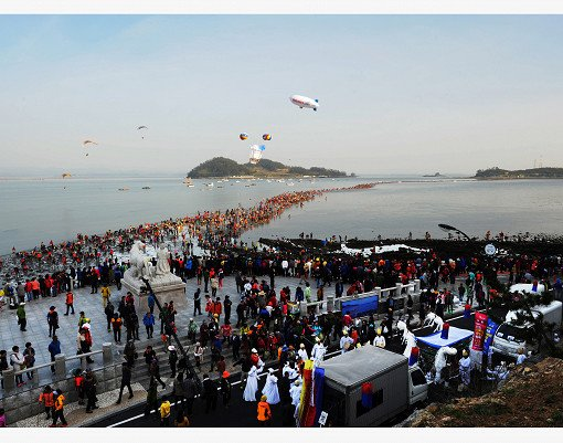 2019 Jindo Miracle Sea Road Festival (From Busan)