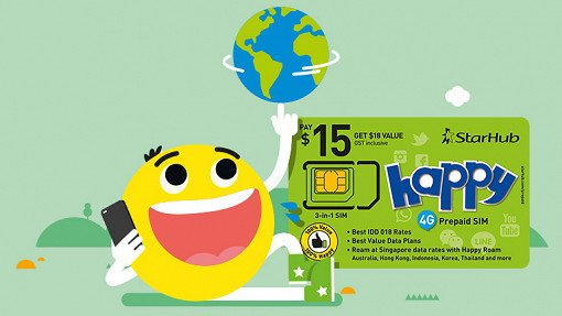 Happy Prepaid SIM Card Package for your Prepaid Travel Needs