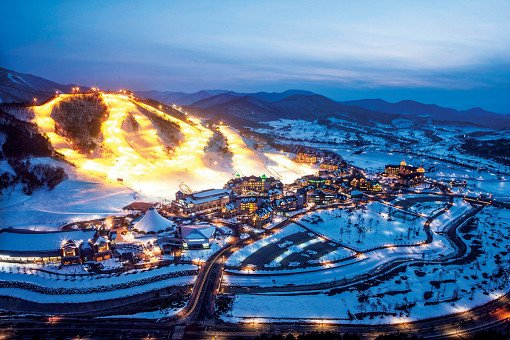 Alpensia Ski Resort Night View