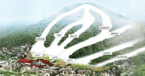 alpensia korea ski slopes map