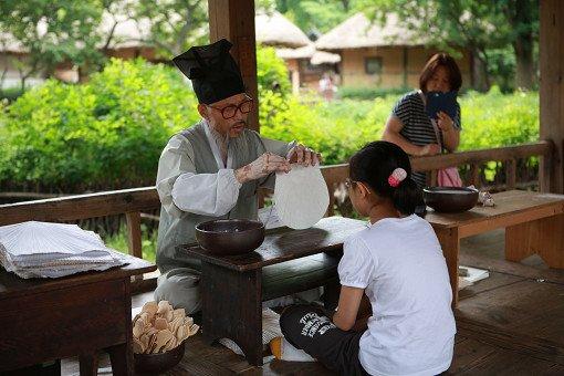 Korean folk village activities