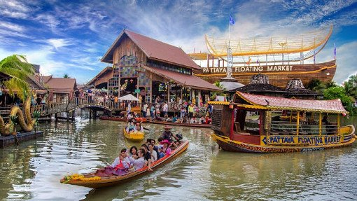 Thailand Pattaya Floating Market