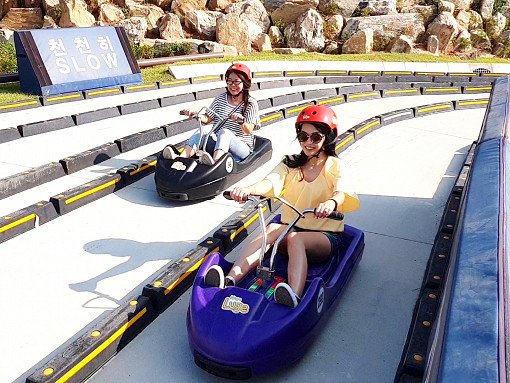 Incheon Tour - Luge+Railbike+Wolmido+Chinatown+Fairy Tale Village_0