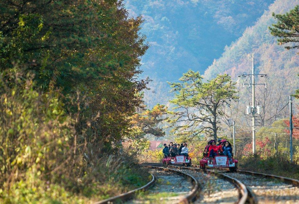 Gapyeong Railbike things to do in Korea