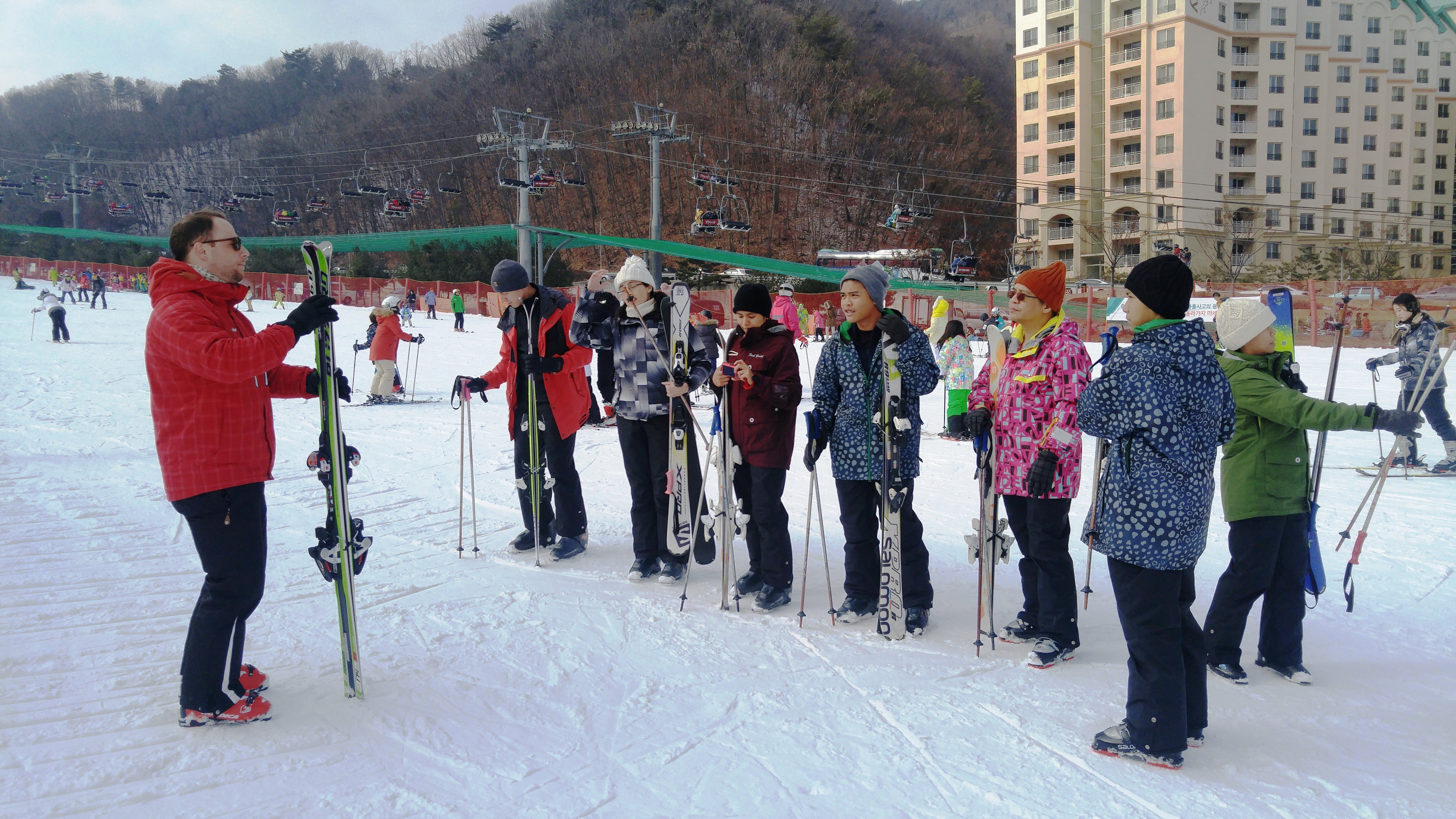 daemyung vivaldi park teaching ski group lesson