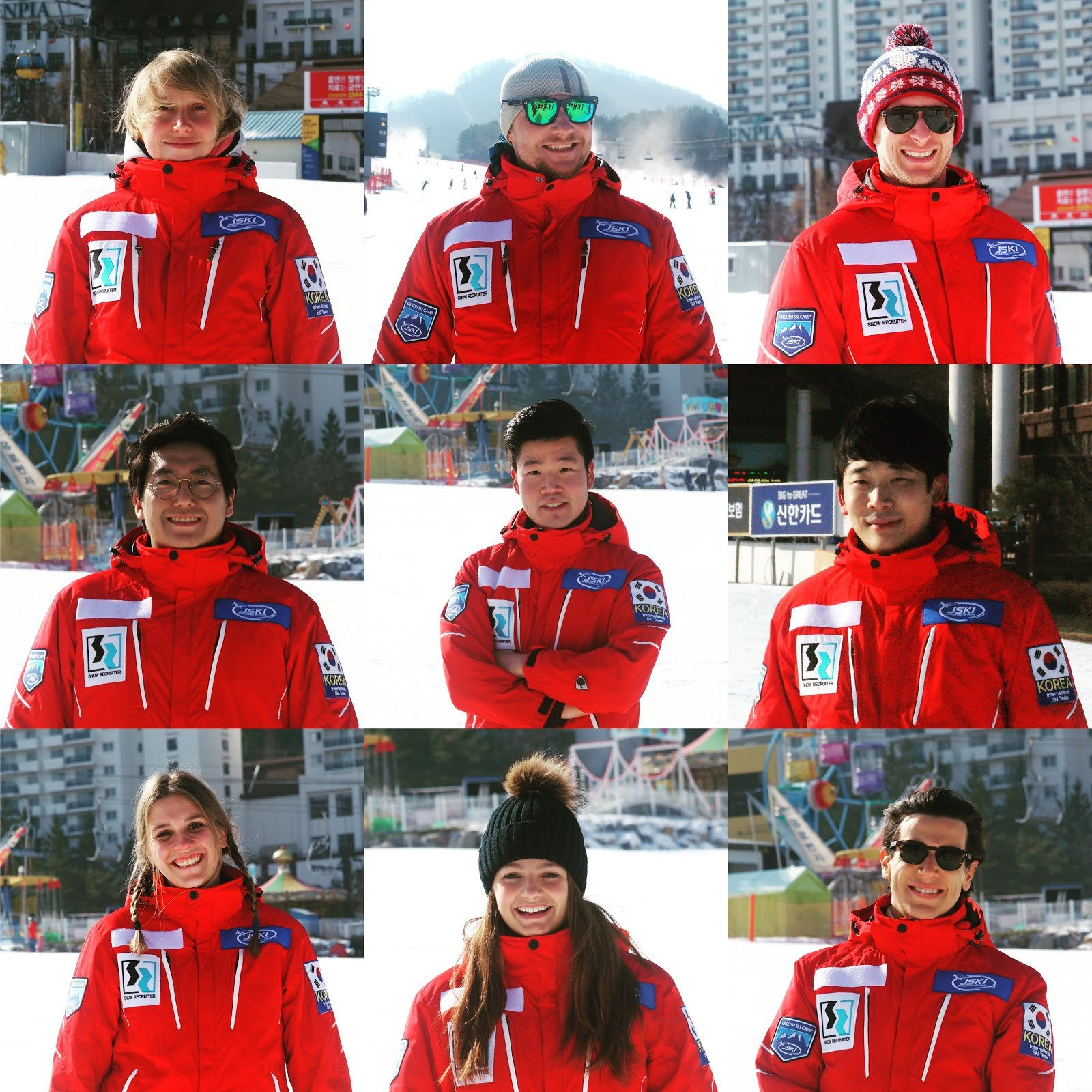 J ski team at daemyung vivaldi park