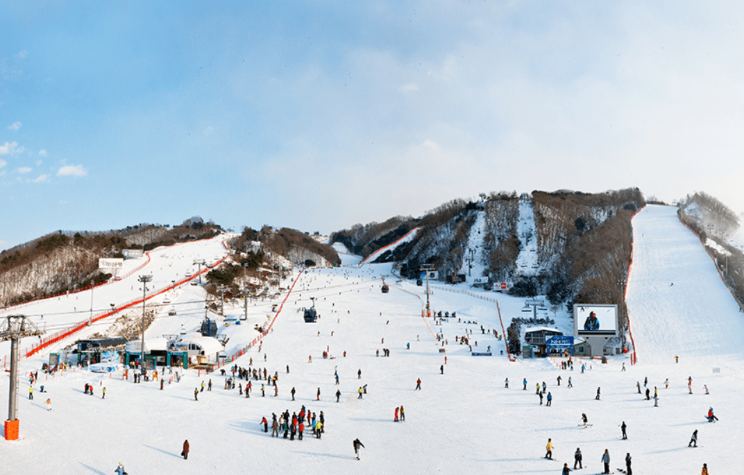 Daemyung Vivaldi Ski Resort Slope