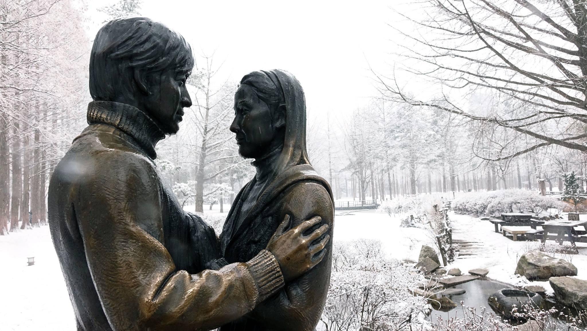 Nami Island Winter Sonata Statue