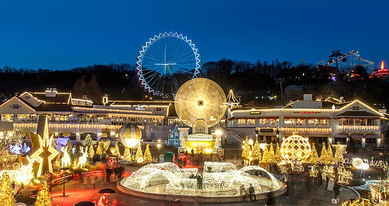 Everland Shuttle Bus Package Night View