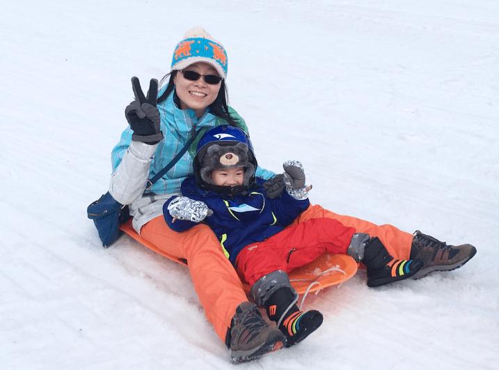oak valley ski resort snow sled