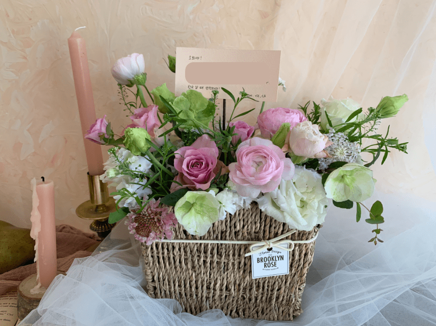 indiway flower delivery to korea flower basket