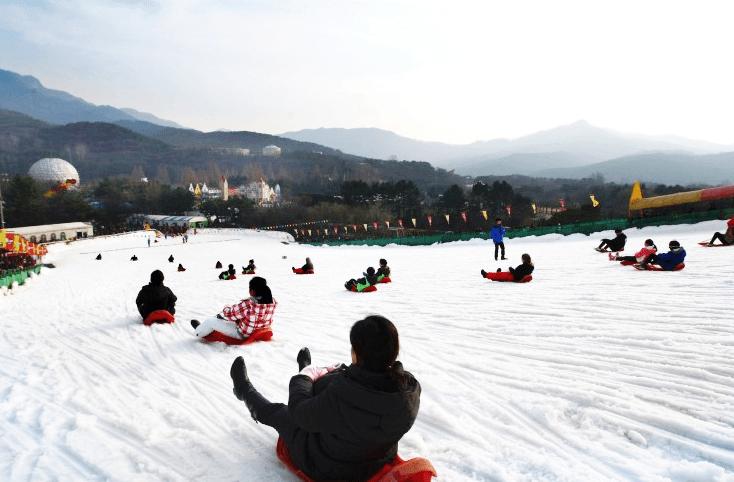 seoul land lava snow sled square