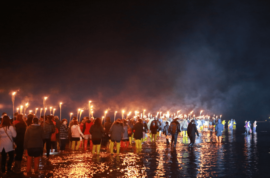 [From Seoul/Busan] 2019 Jindo sea parting festival night event torch parade
